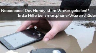 Handy ins Wasser gefallen: Ein nasses Smartphone und iPhone retten - so geht's