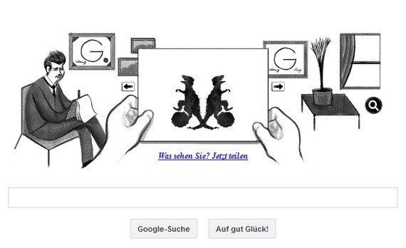 Google ehrt Hermann Rorschach: Mach den Tintenklecks-Test