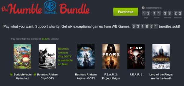 Humble WB Games Bundle: Batman, F.E.A.R und Scribblenauts im Angebot