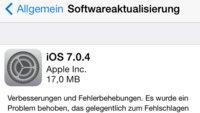 Apple veröffentlicht iOS 7.0.4 und iOS 6.1.5
