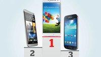 Akkulaufzeiten: Samsung Galaxy S4 hängt iPhone 5C und iPhone 5S ab