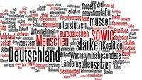 Koalitionsvertrag 2013 zum Download und als Text-Wolke: Was CDU, CSU und SPD vorhaben