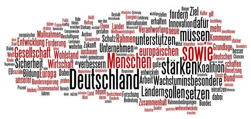 Koalitionsvertrag 2013 als Tag-Wolke