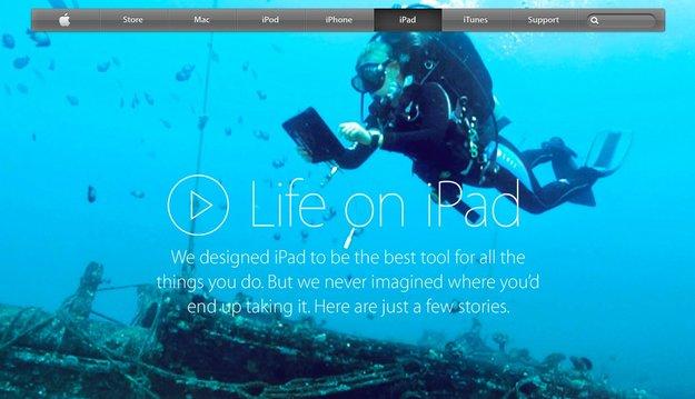Life on iPad: Apple zeigt ungewöhnliche Einsatzgebiete auf neuer Seite