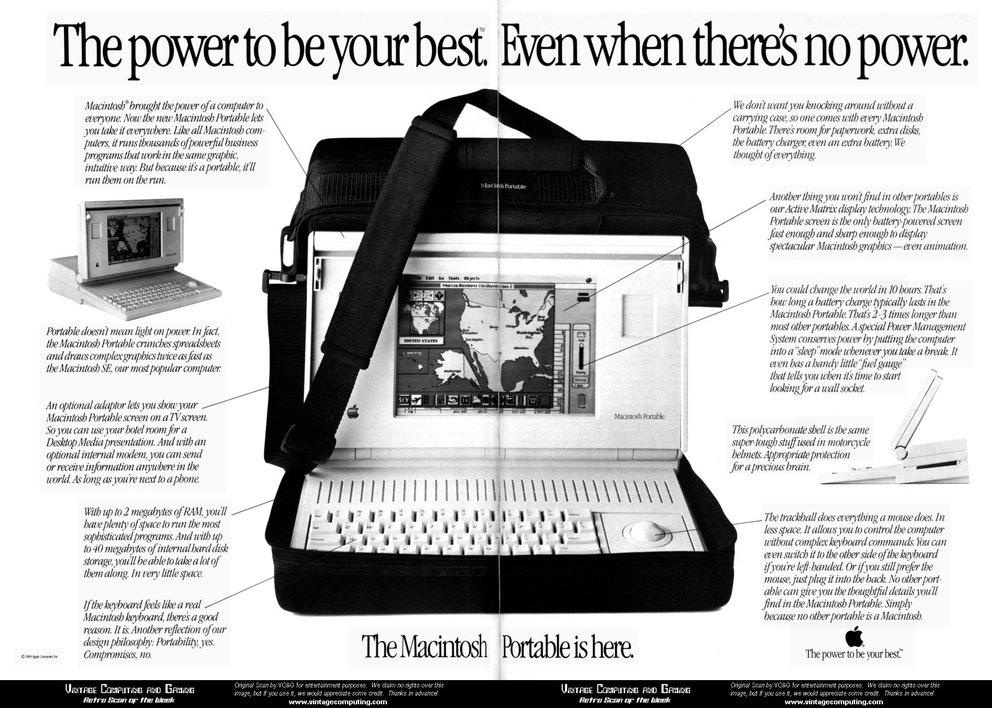 Der Macintosh Portable.