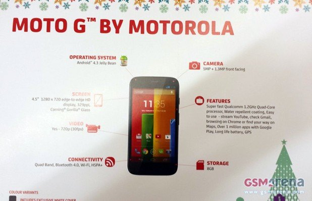 Motorola: Moto G Spezifikationen geleaked