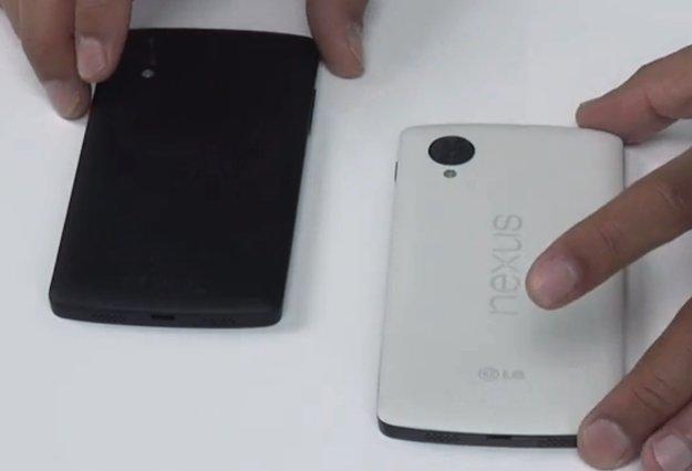 Nexus 5: Weiße und schwarze Version im Vergleich [Video]
