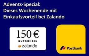 150€-Zalando-Gutschein geschenkt für Kontoeröffnung bei der Postbank (verlängert bis zum 2.1.!)