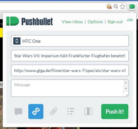 Pushbullet: Datenaustausch zwischen Smartphone und PC (Download)