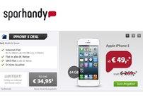 iPhone 5 64 GB für 49,00 Euro mit Allnet-Flat bei Sparhandy