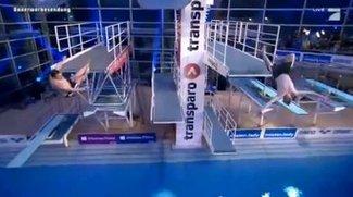 TV Total Turmspringen 2013 im Live-Stream: Elton und Stefan Raab in Synchron-Aktion