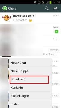 whatsapp-broadcast-verschicken