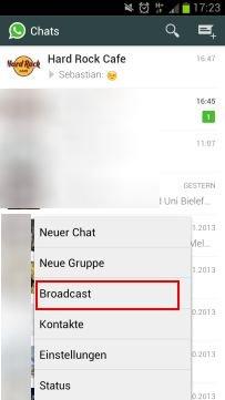 Whatsapp Broadcast Nachrichten An Mehrere Empfänger Ohne Gruppe Senden