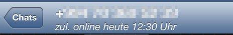 whatsapp zuletzt online