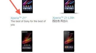 Sony: Xperia Z1s tauchte auf Herstellerseite auf