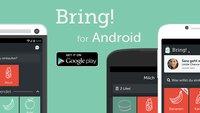 Bring!: Hübsche App für gemeinsame Einkaufslisten jetzt auch für Android