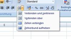 Excel Zellen verbinden - so geht's