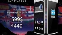 OPPO N1: Ab 10. Dezember für 449 Euro verfügbar