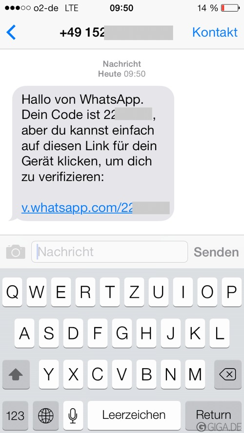 Sms Whatsapp Code