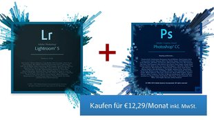 Adobe Photoshop CC + Lightroom: Fotografenbundle für 12,29 Euro/Monat