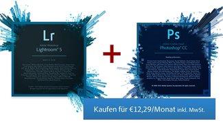 Adobe Photoshop CC + Lightroom: Fotografenbundle für 12,29 Euro/Monat