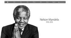 Apple ehrt Nelson Mandela auf Startseite