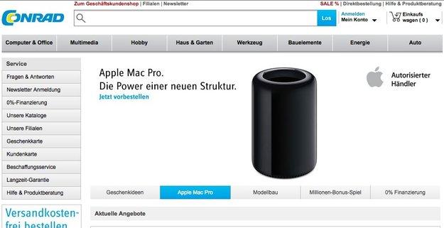 Mac Pro: Hinweise für Verkaufsstart in der Woche vor Weihnachten