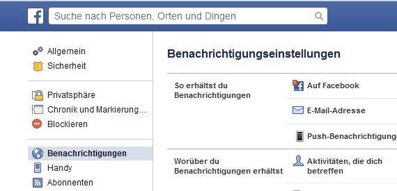 facebook benachrichtigungen löschen