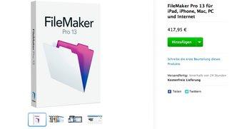 FileMaker Pro 13 im Apple Online Store aufgetaucht