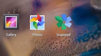 Fotoverwaltung &amp&#x3B; Bildbearbeitung unter Android: Galerie, Google+ Fotos und Snapseed im Vergleich