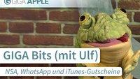 GIGA Bits: NSA-Überwachung, WhatsApp und iTunes-Gutscheine (mit Ulf)