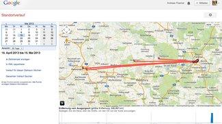 Google-Standortverlauf: Webtool zeigt, wo man wann gewesen ist [Kurztipp]