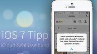 iOS 7 Tipp: Passwörter für alle Webseiten in iCloud speichern