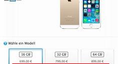 iPhone 5s: Jetzt binnen ein bis drei Tagen lieferbar