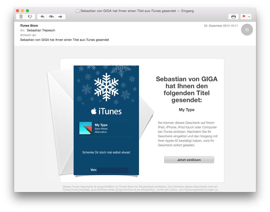Itunes Gutschein App Verschenken