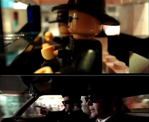 Drei Minuten Blues Brothers 1:1 in LEGO nachgedreht