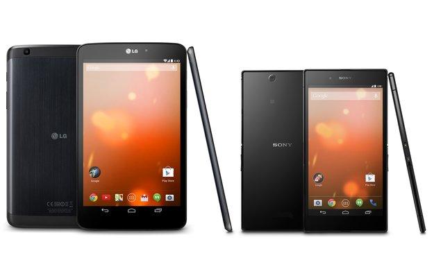 Beinahe-Nexus: LG G Pad 8.3 und Sony Xperia Z Ultra als Google Play Editions sind offiziell