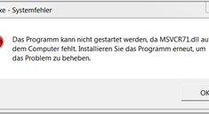 msvcr71.dll wurde nicht gefunden - Problemlösung