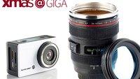Action Cam, Kameraobjektiv-Trinkbecher und mehr von Pearl zu gewinnen