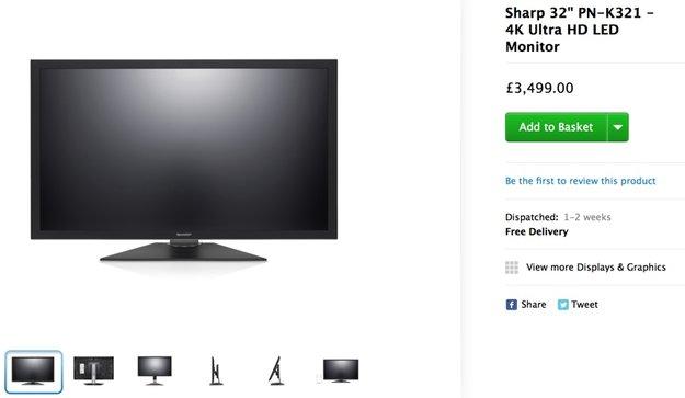 Apple Online Store: 4K-Display von Sharp kurzzeitig im Sortiment aufgetaucht