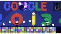 Google feiert Silvester 2013 mit einem animierten Disco-Doodle