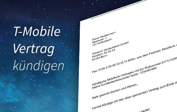 T-Mobile-Vertag kündigen: So geht's