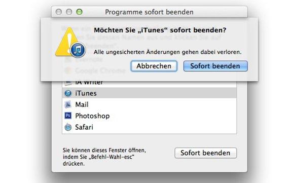 Task Manager am Mac: Was entspricht Strg+Alt+Entf?