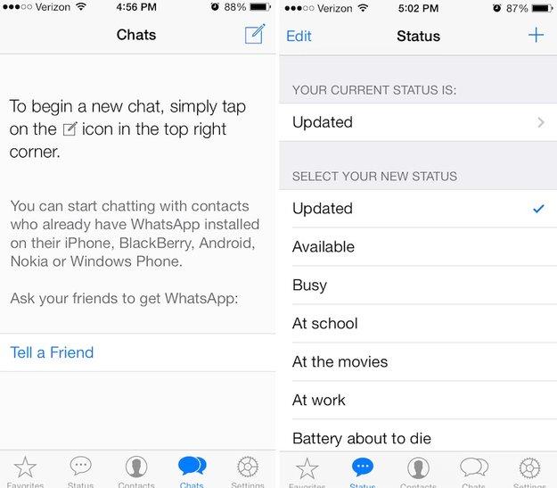 WhatsApp: Neue Version bringt iOS-7-Design