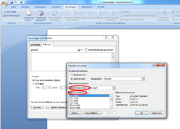 Etiketten erstellen und drucken unter Microsoft Word – Anleitung – GIGA
