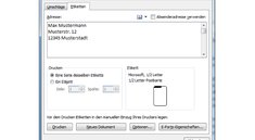 Etiketten erstellen und drucken unter Microsoft Word – Anleitung
