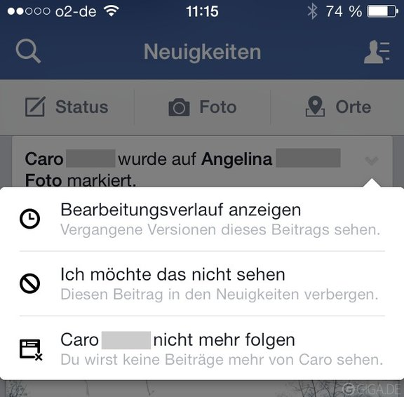 Facebook-iPhone-Neuigkeiten
