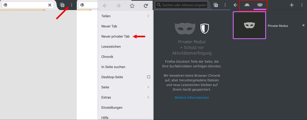 Firefox Android Inkognito Privater Modus