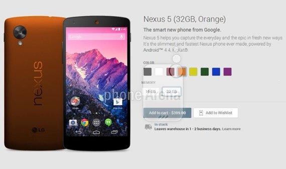 Das Nexus 5 wird bunt und könnte bald in sechs weiteren Farben verfügbar sein