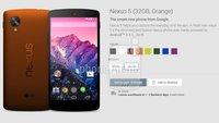 Google Nexus 5 in verschiedenen Farben - Photos und Videos sind ein Fake!